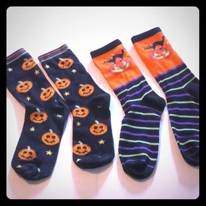 Two pair new without tags Halloween womens socks